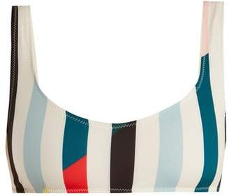 Solid & Striped The Elle Striped Bikini Top - Womens - Blue Multi
