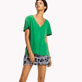 Tommy Hilfiger Short-Sleeve V-Neck Blouse