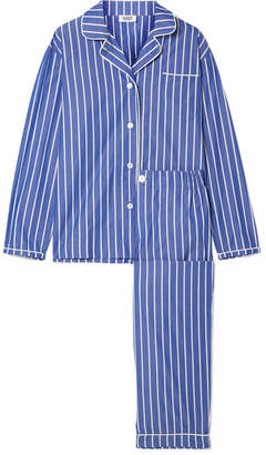 Sleepy Jones - Bishop Striped Cotton Pajama Set - Blue