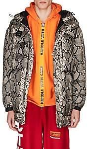 Heron Preston Men's Python-Print Puffer Coat