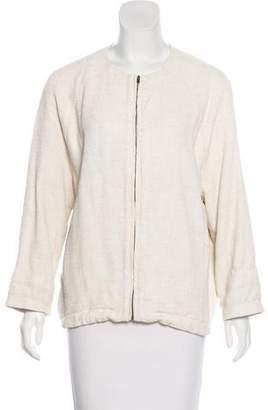 Humanoid Tweed Zip-Up Jacket