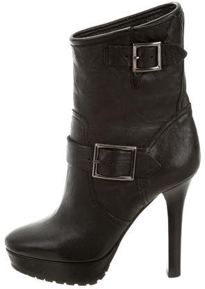 Jimmy Choo Jimmy Choo Leather Platform Ankle Boots
