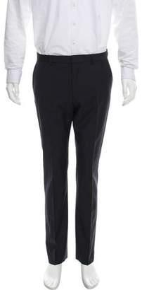 HUGO BOSS Hugo by Flat Front Virgin Wool Pants