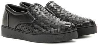 Bottega Veneta Intrecciato leather slip-on sneakers