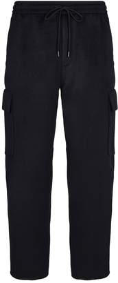 Solid Homme Cropped Cargo Sweatpants