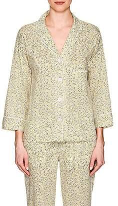 Sleepy Jones Women's Marina Lemon-Print Cotton Pajama Shirt - Yellow