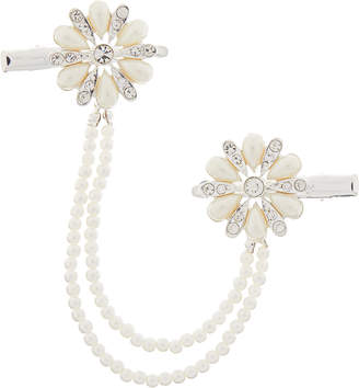 Monsoon Pearl Glitz Flower Paired Hair Clips