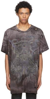 Balmain Black Extra Oversized Destroy Lions T-Shirt