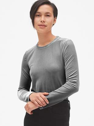 Gap Velvet Long Sleeve Crewneck T-Shirt