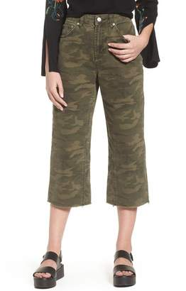 Topshop Camo Wide Leg Trousers