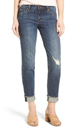 Women's Kut From The Kloth Amy Stretch Raw Hem Jeans $89 thestylecure.com