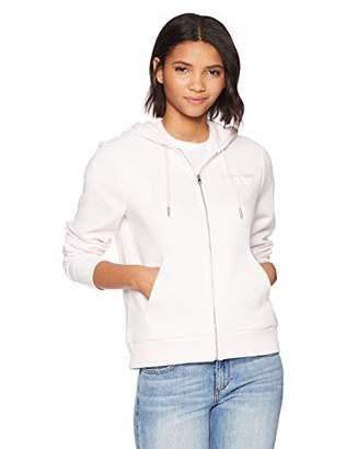 Calvin Klein Jeans Women's Monogram Logo Zip up Hoodie Sweatshirt