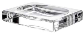 Orrefors 'Ice' Crystal Soap Dish