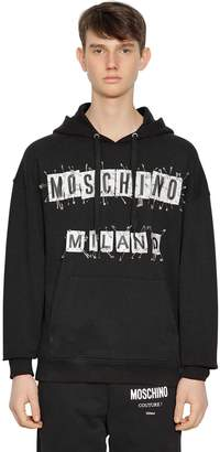 Moschino Hooded Logo Patch Sweatshirt W/ Pins