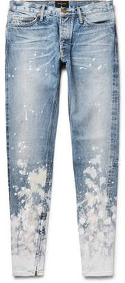 Fear Of God Skinny-Fit Zip-Detailed Painted Selvedge Denim Jeans
