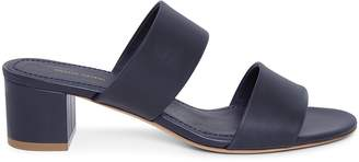 Mansur Gavriel Calf 40mm Double Strap Sandal - Blu