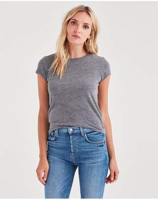 7 For All Mankind Baby Tee In Heather Grey