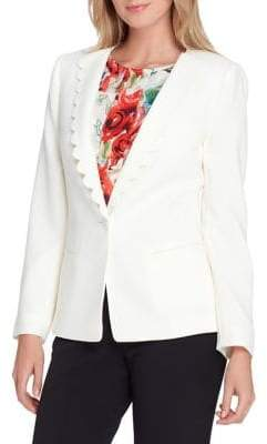 Tahari Arthur S. Levine Scalloped Lapel Jacket