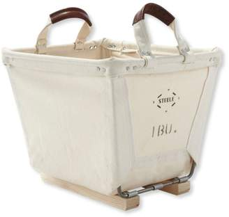 L.L. Bean L.L.Bean Small Carry Basket With Wood Runners