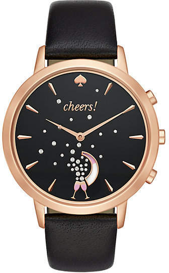 Black and rose smart watch