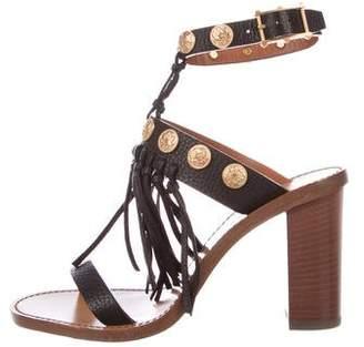 Valentino Embellished Tassel Sandals