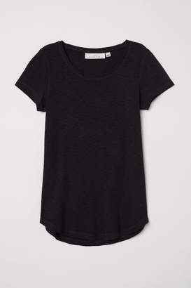 H&M Short-sleeved Jersey Top - Black
