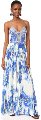 Camilla Ring of Roses Pleated Dress $650 thestylecure.com
