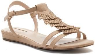 JLO by Jennifer Lopez Pecan Women's Embellished Fringe Sandals