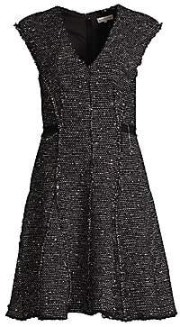 Rebecca Taylor Women's Sparkle Tweed Fit-And-Flare Dress