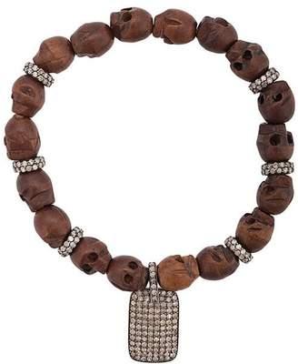 Loree Rodkin skull bead bracelet