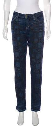 Marni Printed Mid-Rise Jeans