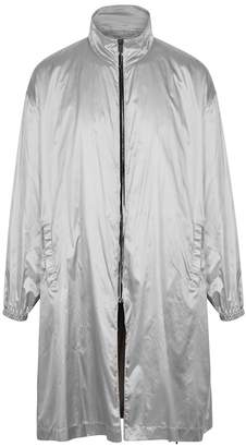 Raf Simons Silver Reversible Hooded Shell Coat