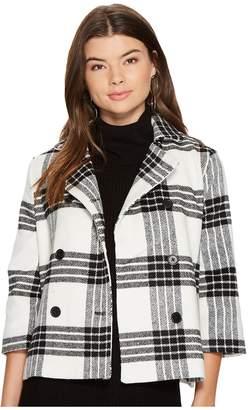 BB Dakota Henny Buffalo Plaid Wool Like Jacket Women's Coat