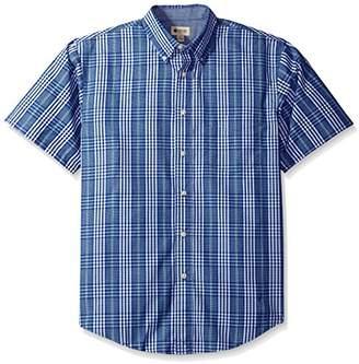 Haggar Men's Long Sleeve Peached Poplin Woven Shirt