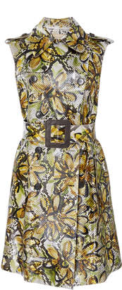 Michael Kors Python Belted Trench Dress