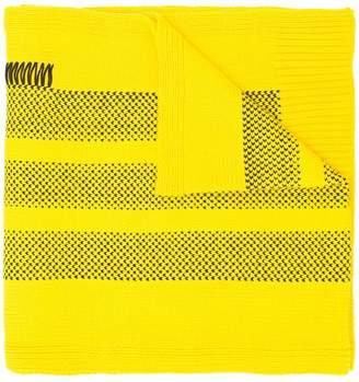 Y-3 Adidas X Yohji Yamamoto boxy lace detail scarf