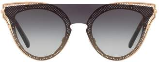 Valentino Cat Eye Mono-Lens Sunglasses