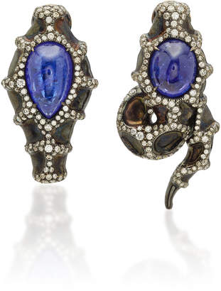 Arunashi One-Of-A-Kind Tanzanite Snake Earrings