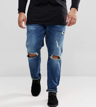 ONLY & SONS Slim Fit Jeans With Open Knee Rips