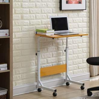 Ebern Designs Blondene Wood Top Standing Desk