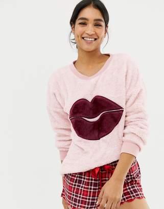 Hunkemoller Lips Kiss Long Sleeve Sweater