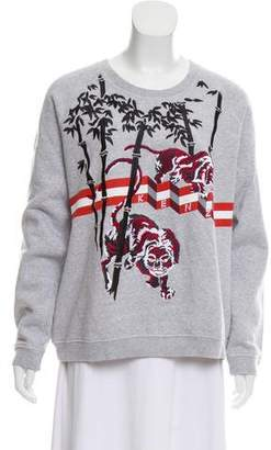 Kenzo Embroidered Knit Sweatshirt