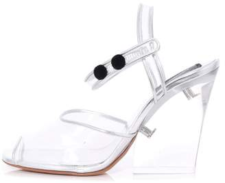 Marc Jacobs Wedge Sandal with Plexiglass Heel in Clear