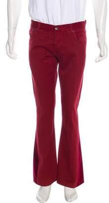 Isaia Velvet-Trimmed Bootcut Jeans