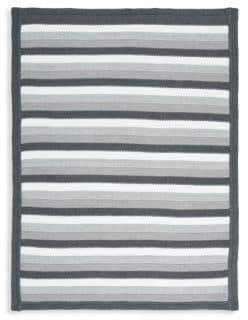 Elegant Baby Baby's Gray Stripe Cotton Blanket