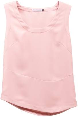Atelier FG Light Pink Sleeveless Asymmetric Blouse