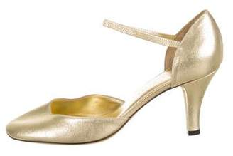 Marc Jacobs Metallic Round-Toe Pumps