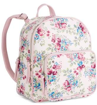 No Boundaries Floral Double Compartment Handbag Backpack