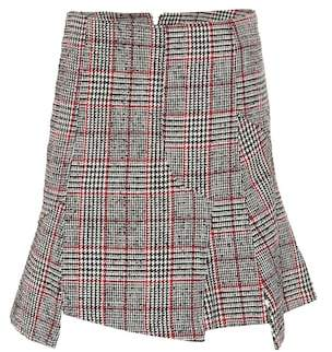 McQ Plaid wool-blend miniskirt