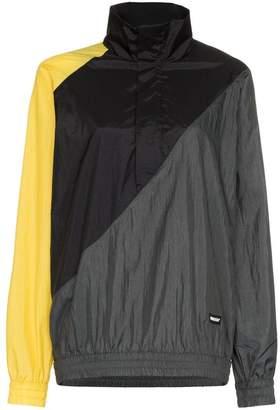 Ambush zip up panelled sports jacket